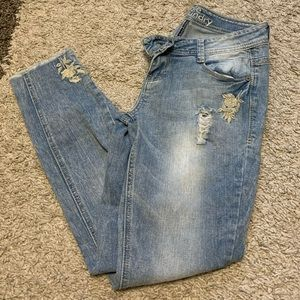 Hippie laundry skinny cropped jeans